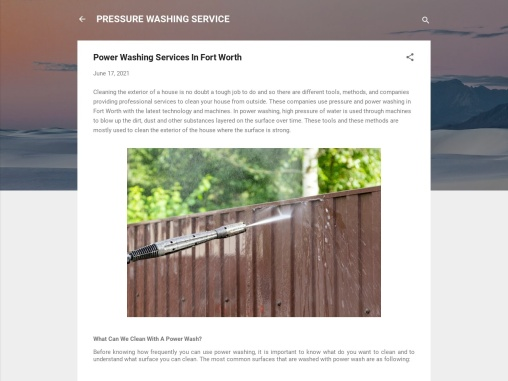 Power Washing Services In Fort Worth