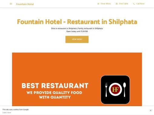 Fountain Hotel – restaurant in shilphata