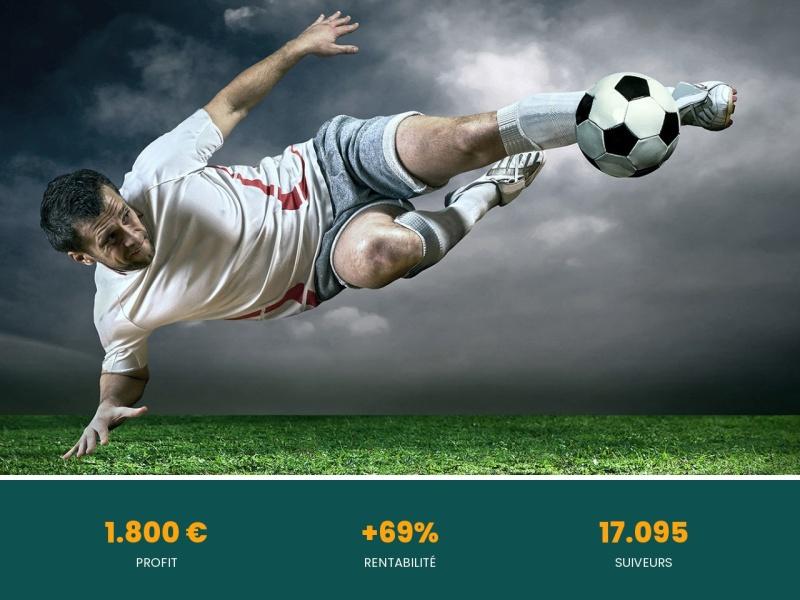 foot  gains en 18 jours  1.800 euros