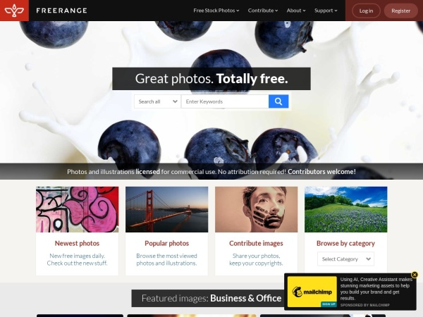Freerange - 15 Free Website for Quality Free Copyright Images 2020