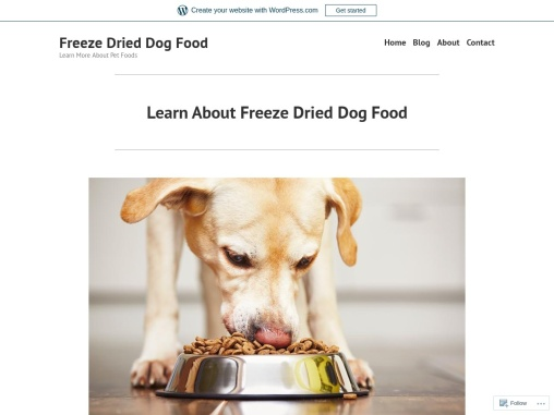 Learn About Freeze Dried Dog Food