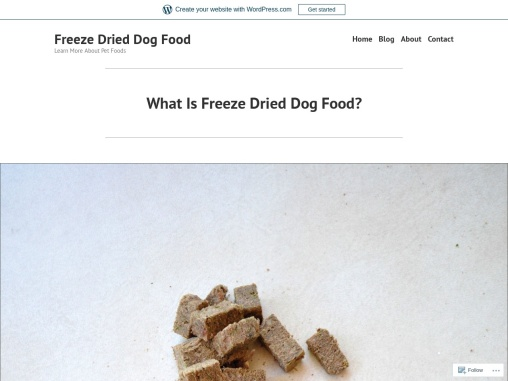 What Is Freeze Dried Dog Food?