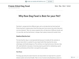 Know About Benefits of Raw Dog Food