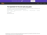 The requirement for free slots spins play games