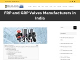 FRP and GRP Valves Manufacturers