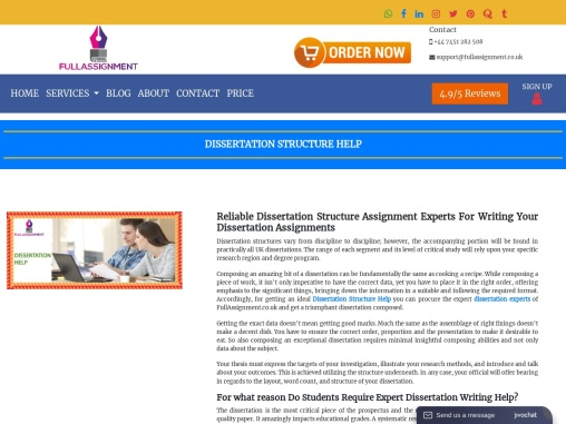 full assignment help-dissertation structure helpservices in united kingdom