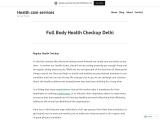 Full Body Health Checkup Delhi