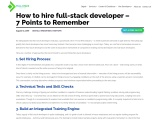 How to hire Full-Stack Developer