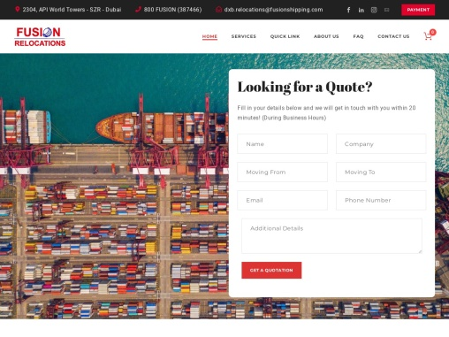 Moving from Dubai to Jordan – Fusion Relocations