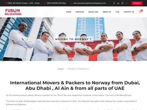Moving from Dubai to Norway – Fusion Relocations