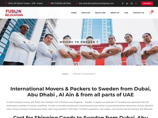 Moving from Dubai to Sweden- fusionrelocations