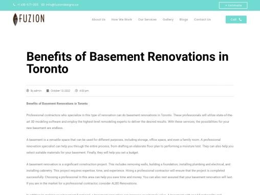 Renovations – Get Renovation Ideas at fuziondesigns.ca