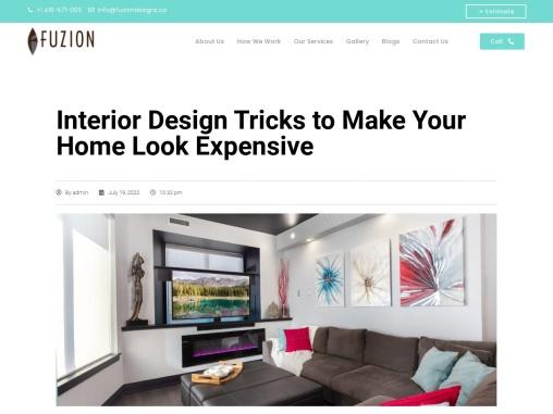 Interior Design – Get Renovation Ideas At Fuziondesigns.Ca