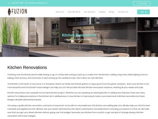 Kitchen Renovations – Get Renovation Ideas at fuziondesigns.ca