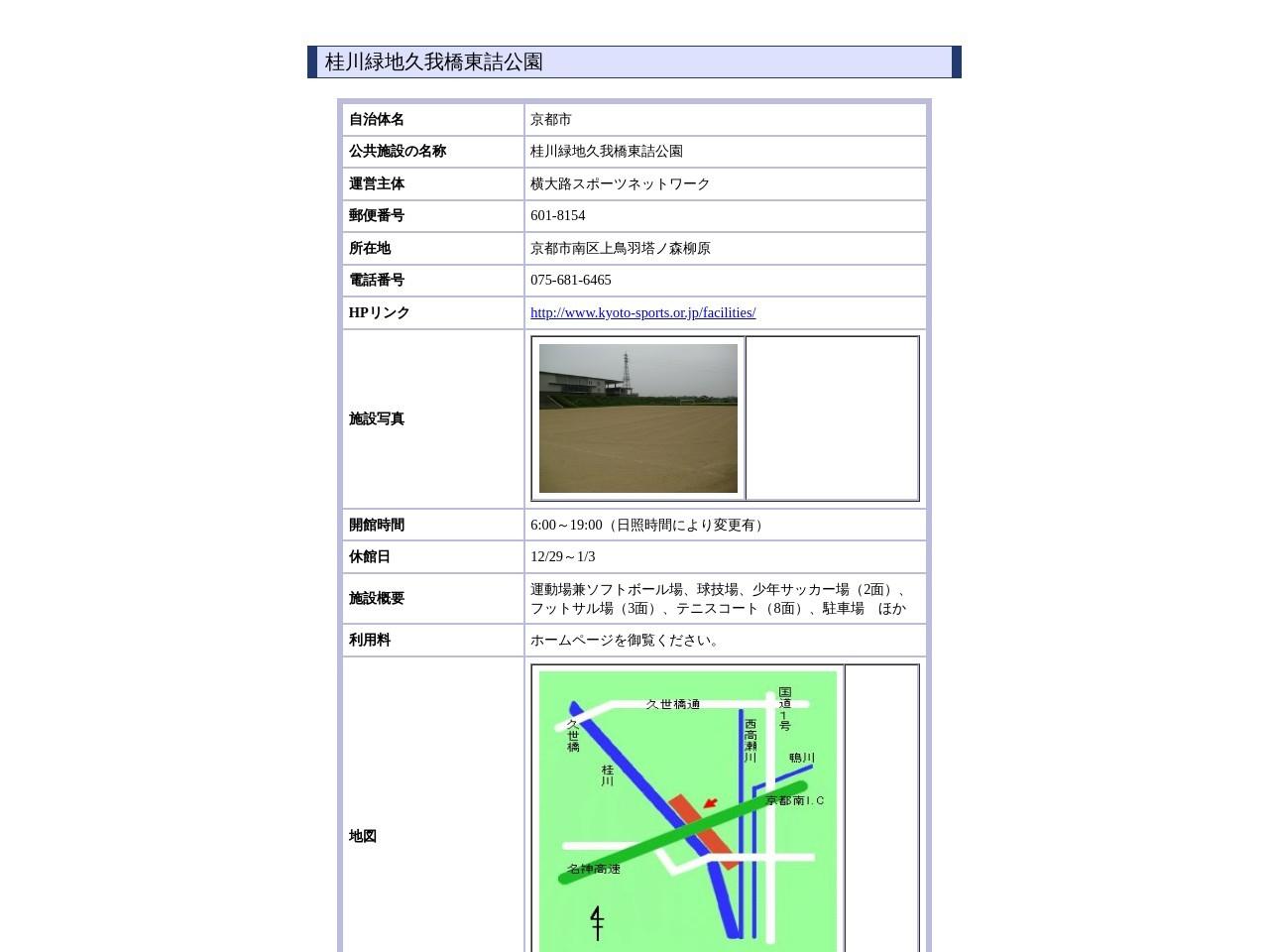 桂川緑地久我橋東詰公園