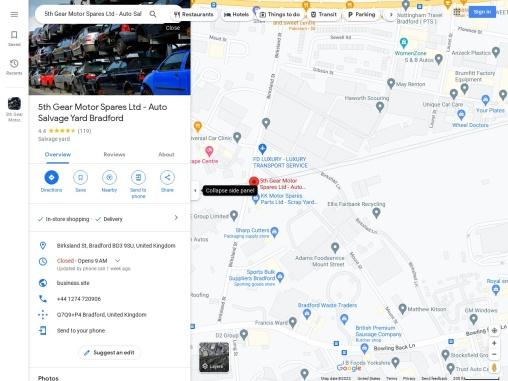 Used Car Parts UK | Car Scarp Yard Bradford | Car Breakers Bradford