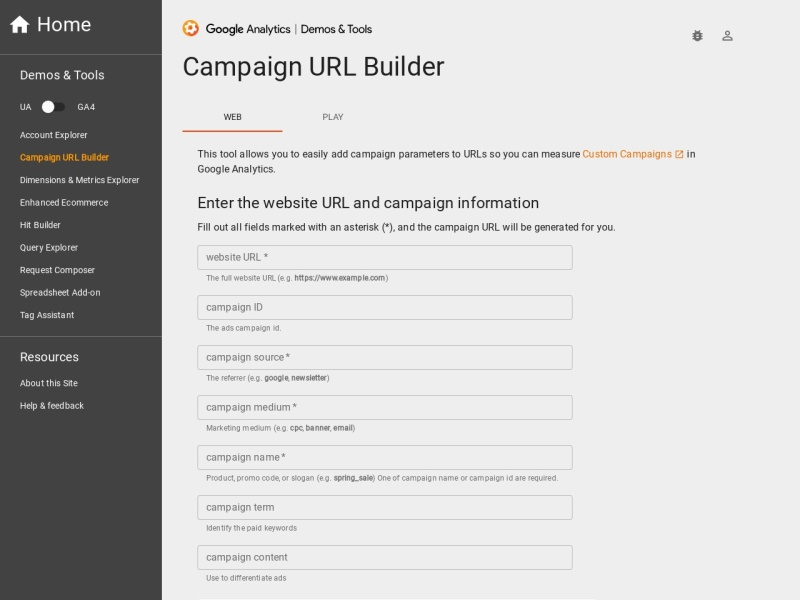 Campaign URL Builder | Google AnalyticsキャンペーンURLの発行が手軽に出来るツール