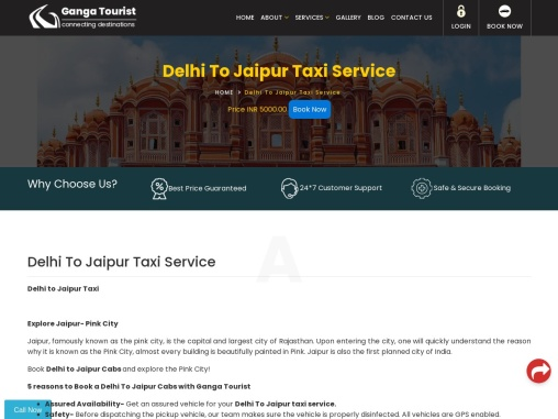 best taxi service from delhi to jaipur .