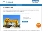 How To Stay Safe While Using A 70 Ton Gantry Crane