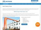 Wide Uses of Semi Gantry Cranes