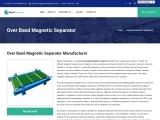 Over Band Magnetic Separator Manufacturer, Supplier & Exporter