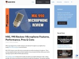 MXL 990 Review: Microphone Features, Performance, Pros & Cons