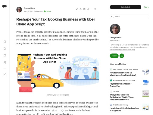 Reshape Your Taxi Booking Business with Uber Clone App Script