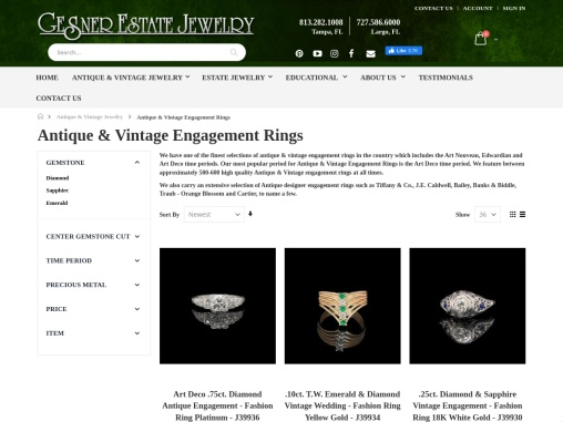 Antique & Vintage Jewelry Engagement Rings