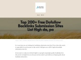 Top 200+ Free Dofollow Backlinks Submission Sites List High da, pa