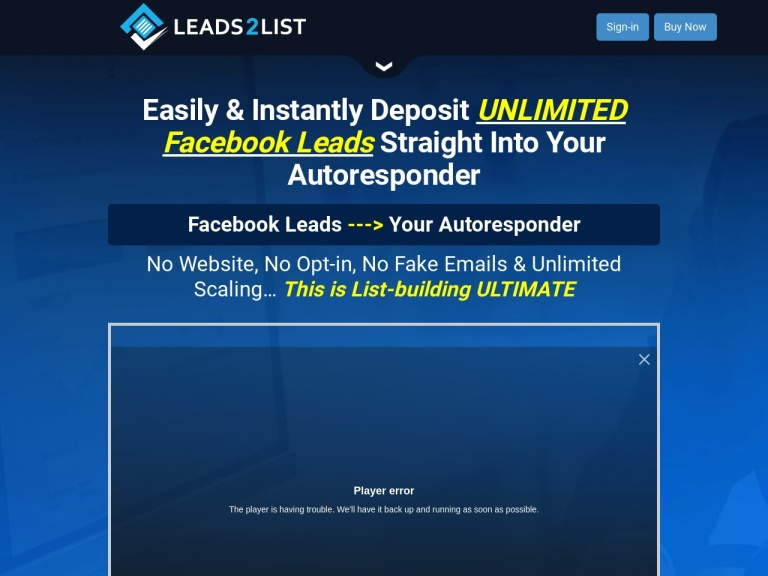 Leads2List Coupons and Discounts May 2021 screenshot