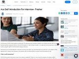 self introduction for interview fresher