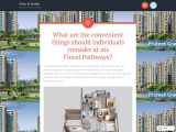 What are the convenient things should individuals consider at ats Floral Pathways?