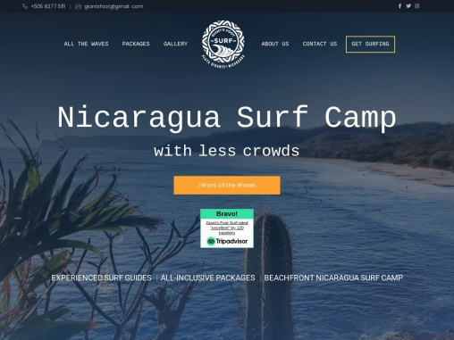 Vacation Surf Camp Nicaragua USA – Giant's Foot Surf Tours