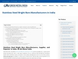 Stainless Steel Bright Bars Manufacturers in India