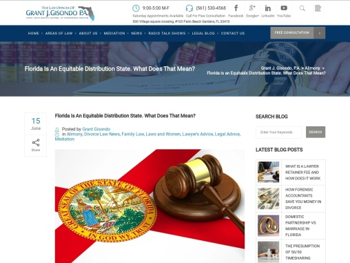 Florida is an Equitable Distribution State. What Does That Mean?