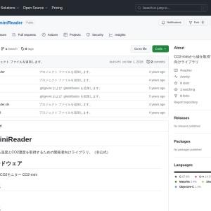 GitHub - fuket/CO2miniReader: CO2-miniから値を取得するための開発者向けライブラリ