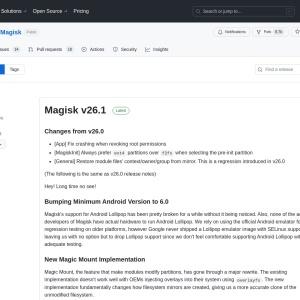 Releases · topjohnwu/Magisk · GitHub