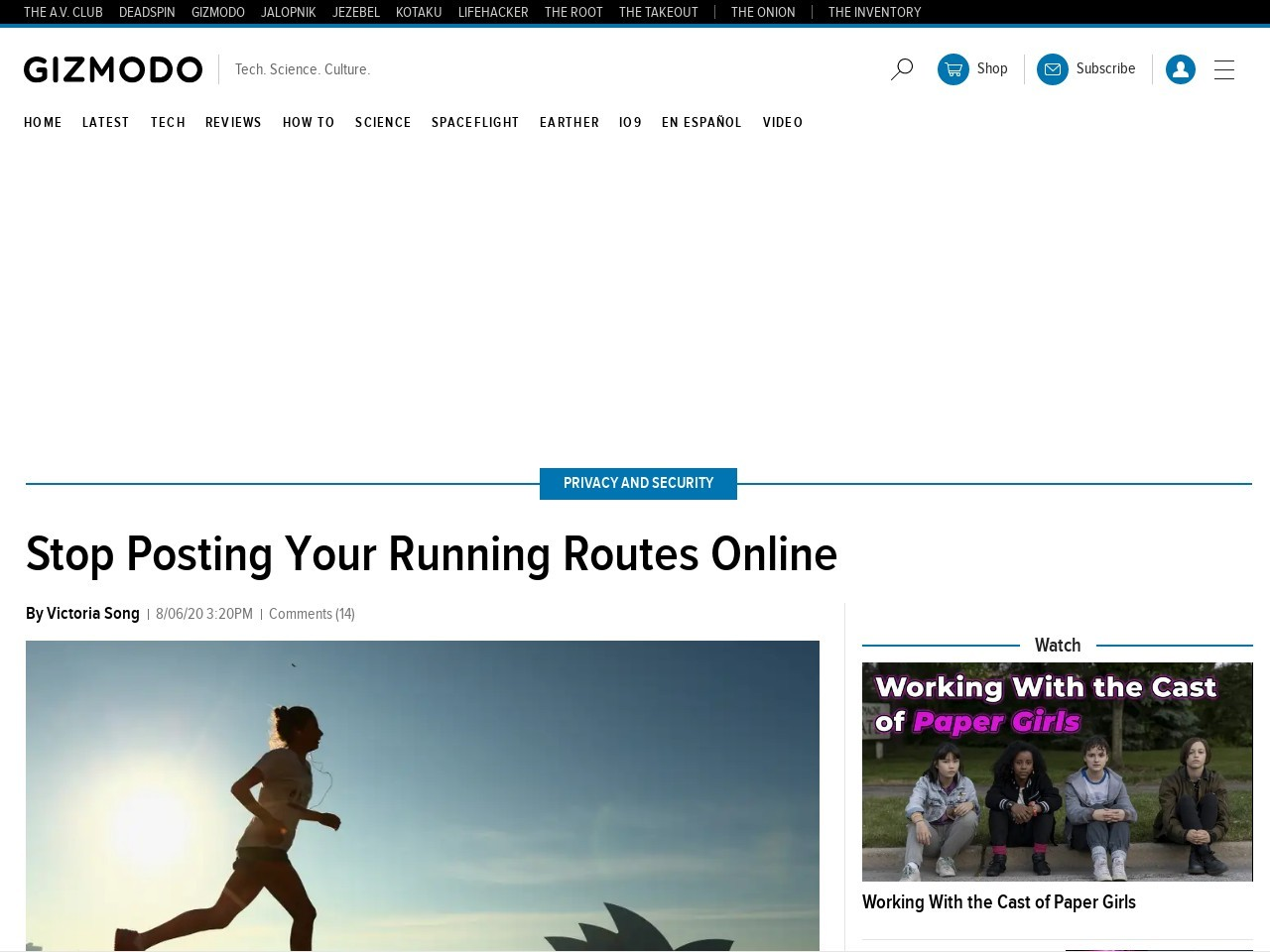 Stop Posting Your Running Routes Online