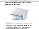 Best Cooling Pillows (best cooling pillow) for People Who Run Hot
