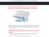 The best cooling pillows for sleepers-RONKOFF Shredded Adjustable Hypoallergenic Breathable