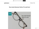 Buy Latest Eyewear Online To Look Cool