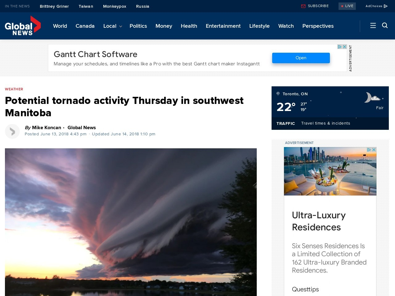 Potential for severe weather Thursday in southwest Manitoba