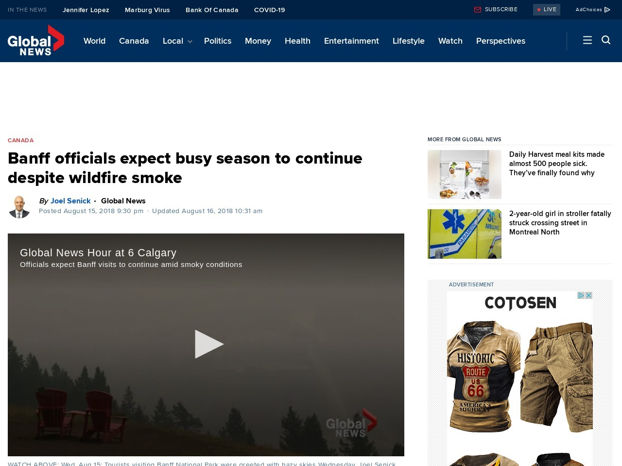 Banff officials expect busy season to continue despite wildfire smoke