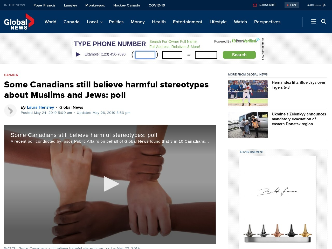 Some Canadians still believe harmful stereotypes about Muslims and Jews: poll