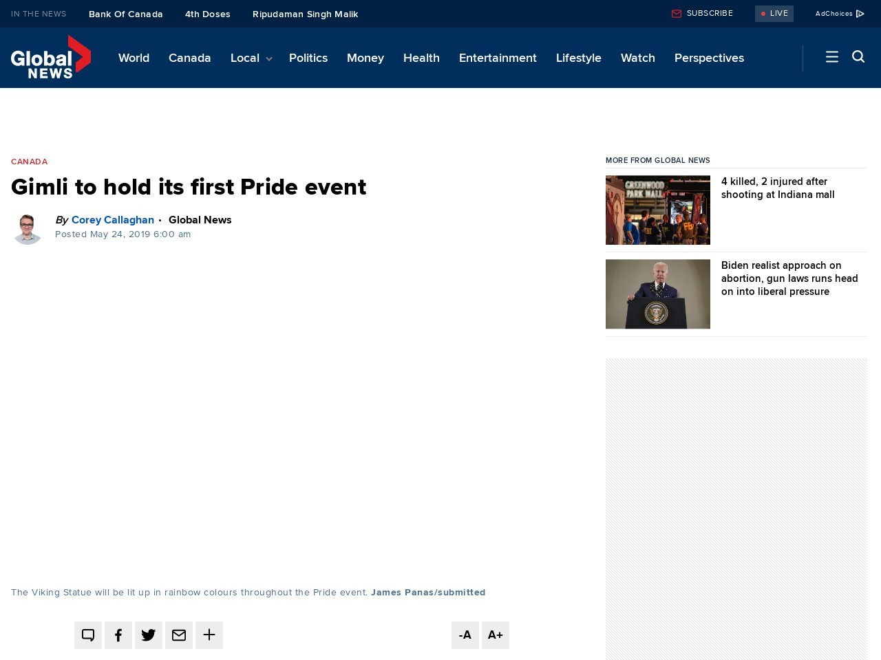 Gimli to hold its first Pride event