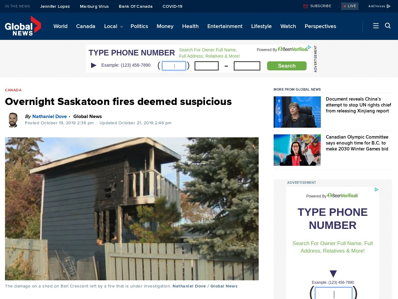 Overnight Saskatoon fires deemed suspicious