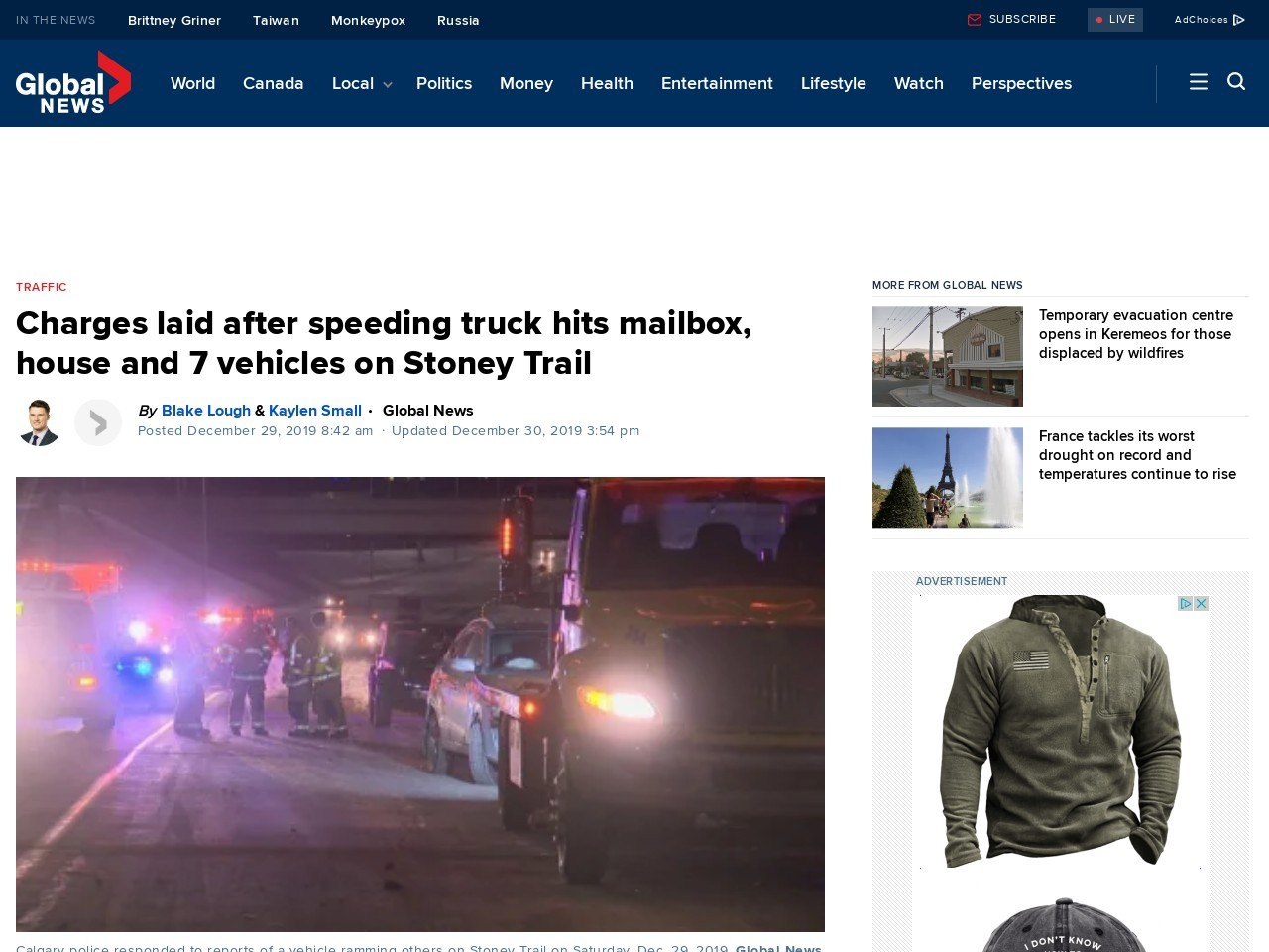 Multiple vehicles struck by speeding truck on Stoney Trail, police investigating
