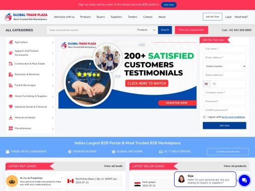 Global B2B Marketplace, B2B Websites India, Import Export Portal & Wholesale b2b Marketplace