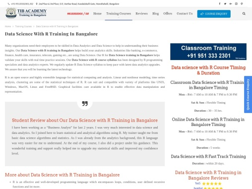 Data Science Training in Bangalore, Data Science Courses in Bangalore