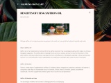 Benefits of using Saffron oil.